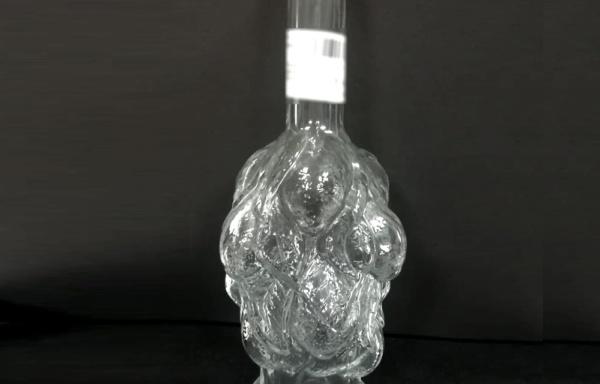 Bottiglia con decoro limoni