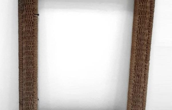 Cornice da parete in vimini