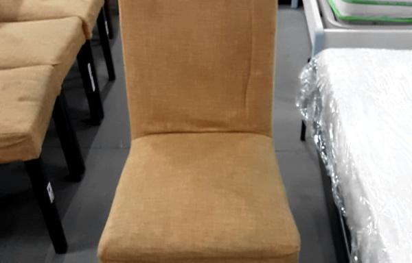 Sedia in legno e tessuto