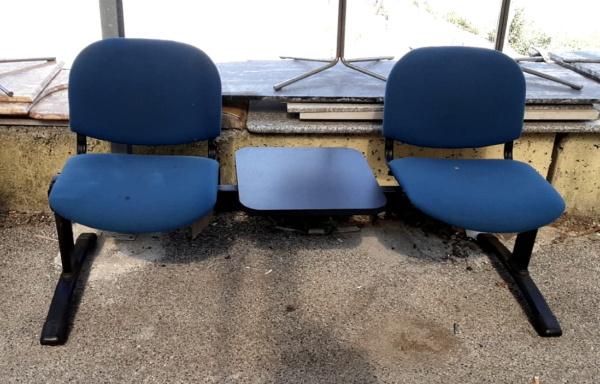 Panca a 2 posti per sala d'attesa